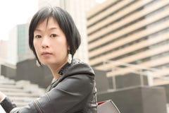 亚裔成熟妇女 免版税库存图片