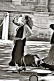 街道的72佛拉明柯舞曲舞蹈家 免版税库存照片