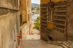 从街道的Jiraskova台阶在汽车站Eurocentrum 库存照片