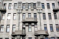 街道的Nekrasova议院在圣彼得堡 免版税库存图片