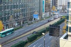 街道看法在上野区,东京,日本 免版税库存照片