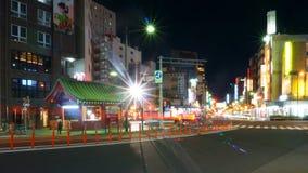 街道看法在东京浅草区 库存照片