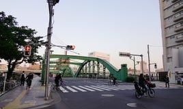 街道看法在东京,日本 免版税库存照片