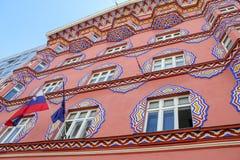 街道看法在卢布尔雅那,斯洛文尼亚 免版税库存图片