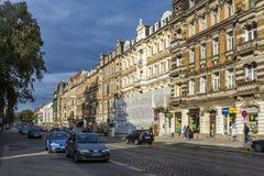 街道看法有老古典的 免版税库存照片