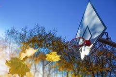 街道篮球场 免版税库存图片