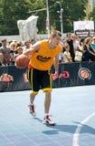 街道篮球节日在梁赞 库存照片
