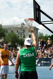 街道篮球节日在梁赞 免版税库存图片