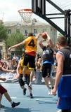 街道篮球节日在梁赞 免版税图库摄影