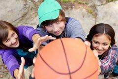 街道篮球 库存图片