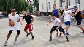 街道篮球tournament_5 库存照片