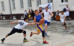 街道篮球tournament_2 库存照片