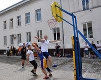 街道篮球tournament_6 免版税库存图片
