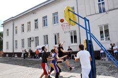 街道篮球tournament_6 库存图片