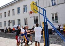 街道篮球tournament_5 免版税库存照片