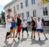 街道篮球tournament_7 库存图片