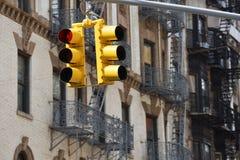 街道红绿灯在纽约 免版税库存图片