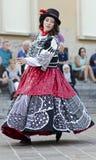 街道舞蹈家在意大利 库存照片