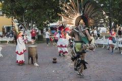 街道舞蹈家在巴里阿多里德市 免版税库存图片