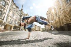 街道舞蹈家 免版税库存照片