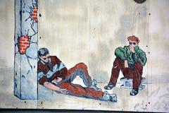 街道艺术吸毒者 免版税库存照片