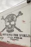 街道艺术和壁画在中间地区迈阿密 库存照片