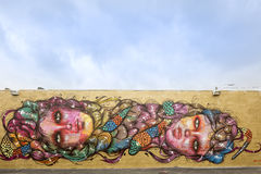 街道艺术和壁画在中间地区迈阿密 库存图片