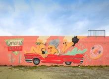 街道艺术和壁画在中间地区迈阿密 免版税库存照片
