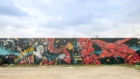 街道艺术和壁画在中间地区迈阿密 免版税图库摄影