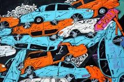 街道艺术和街道画在布拉格 免版税库存图片