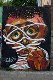 街道艺术和街道画在柏林,德国 图库摄影