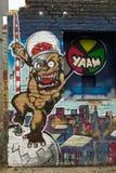 街道艺术和街道画在柏林,德国 库存照片