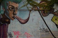 街道艺术和街道画在柏林,德国 库存图片
