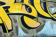 街道艺术图画的片段 街道画背景 免版税库存图片
