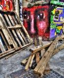 街道艺术在东伦敦 免版税库存照片