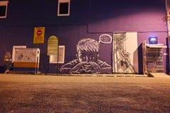 街道艺术在乔治城 库存图片