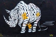 街道艺术在伦敦,英国 免版税库存图片