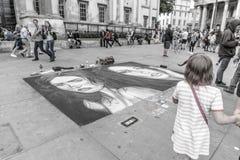 街道艺术在伦敦 免版税库存照片