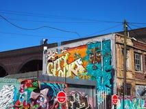 街道艺术在伯明翰,英国 免版税库存图片