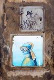 街道艺术在佛罗伦萨,意大利 免版税库存照片