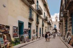 街道艺术在哈瓦那旧城 免版税库存照片