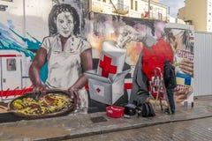 街道艺术在巴伦西亚,西班牙 免版税图库摄影