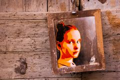 街道艺术在巴勒莫 库存照片