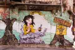 街道艺术在巴勒莫 库存图片
