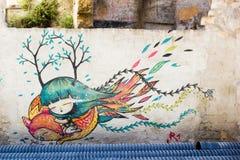 街道艺术在巴勒莫 免版税库存图片