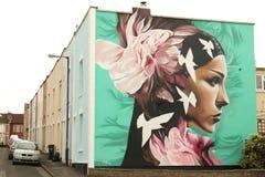 街道艺术在布里斯托尔,英国 免版税库存图片