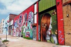 街道艺术在布鲁克林- NY 库存照片