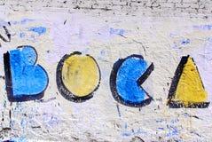 街道艺术在拉博卡邻里 免版税库存图片