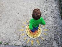 街道艺术在新海尔采格,黑山 库存照片