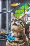 街道艺术在格拉斯哥,英国 库存照片